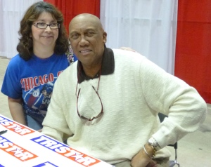 "Ferguson ""Fergie"" Jenkins & I.  Reliant Stadium, Houston, TX. 1-27-13."
