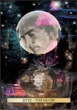 The Moon, from The Son Tarot, by Christopher Butler.