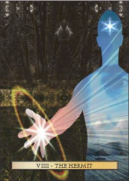The Hermit, from The Son Tarot by Christopher Butler.