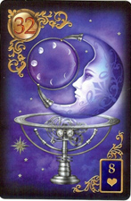 The Moon, from The Gilded Reverie Lenormand, copyright Ciro Marchetti, 2012.