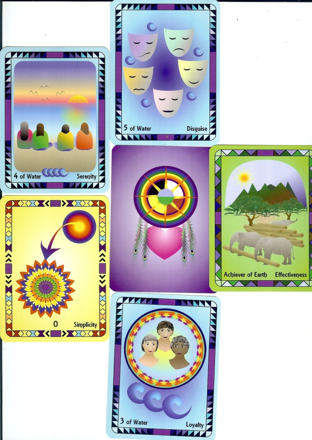 The Radiant Wisdom Tarot, sample reading using the Personal Alignment spread.