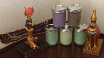 My Mini-Power candles, homemade from soy wax.