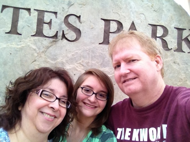Our arrival in Estes Park, CO.