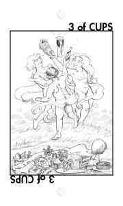 Healing Tarot: 3 of Cups.