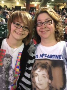 My daughter & I at the Paul McCartney concert, Nov. 2012.  Two very happy fans!