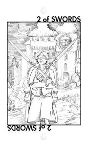 Healing Tarot: 2 of Swords