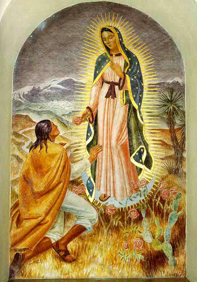 virgin marys appearance to saint juan diego Our blessed mother appears to juan diego the mexican saint to teach him about christianity thank god mary choose to save us.