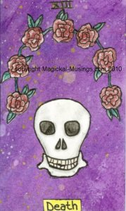 The Death card, from the forthcoming Magickal Musings Tarot. (C) Nefer Khepri