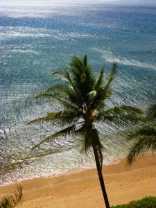 Looking toward the island of Molokai from Room 902 at the Ashton Mahana on Maui.