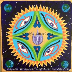A Manifestation Mandala I created for myself. Copyright Nefer Khepri, 2011.