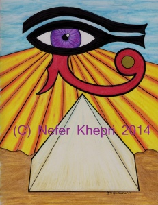 "The card back to the ""Egyptian Lenormand."" (C) Nefer Khepri, 2014."