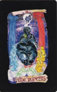 The Popess, Kabbalistic Visions Tarot by Marco Marini & Luigi Scapini. (C) Marini, Scapini & Schiffer Books, 2014.