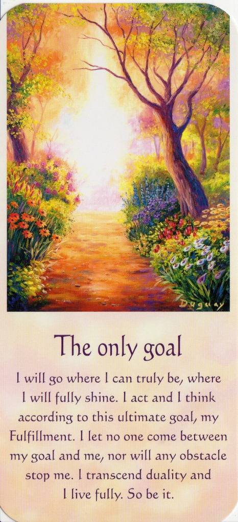 "The Only Goal, from ""Messages of Light."" Image &Text on image (C) Mario Duguay, 2003."