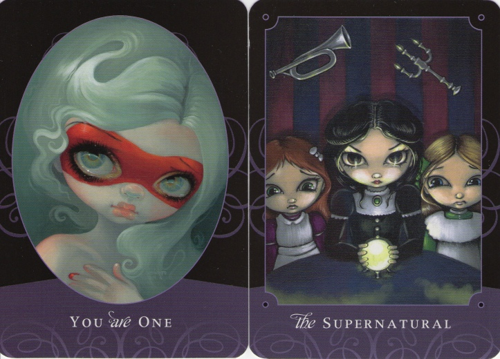 Extra Cards: You Are One & The Supernatural from The Beautiful Creatures Tarot (Schiffer Books, 2015)