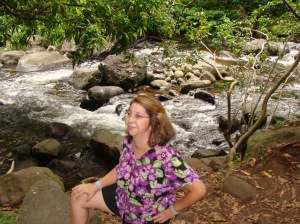 Me at Iao Valley State Park, Maui, Hawaii. Nashia is standing behind me, slightly to my left.