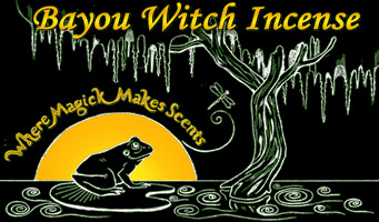 Bayou Witch Incense logo, created by Lisa Hunt.