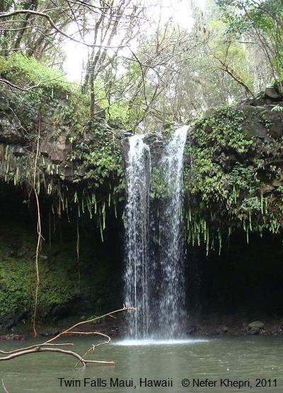 Twin Falls, Maui, Hawaii © Nefer Khepri, 2011.