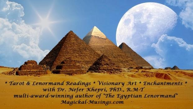 pyramids & full moon daylight