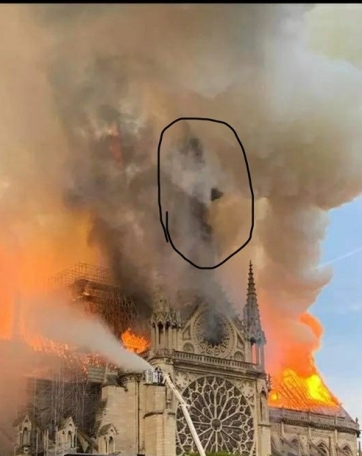 Notre Dame Fire: Faces of Good and Evil. For readings, spells & visionary art visit Magickal-Musings.com