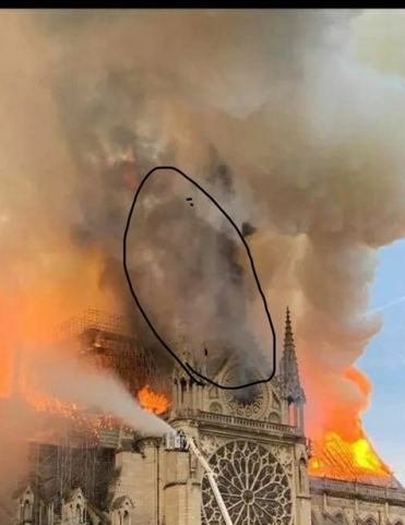 Notre Dame fire: faces of good & evil. For readings, spells, & visionary art visit Magickal-Musings.com.
